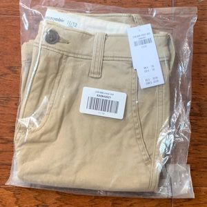 Abercrombie kids dress shorts NWT tan